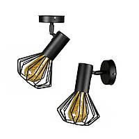 Світильник лофт MSK Electric Diadem настінно-стельовий NL 22151-1, фото 1