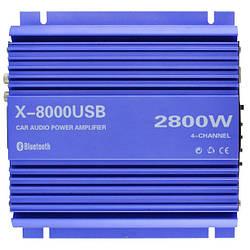 Усилитель звука автомобильный 4-канальный UKC X-8000USB 4835