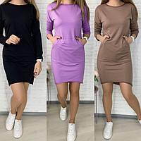 Модное женское спортивное платье худи в расцветках, размеры 42 - 52