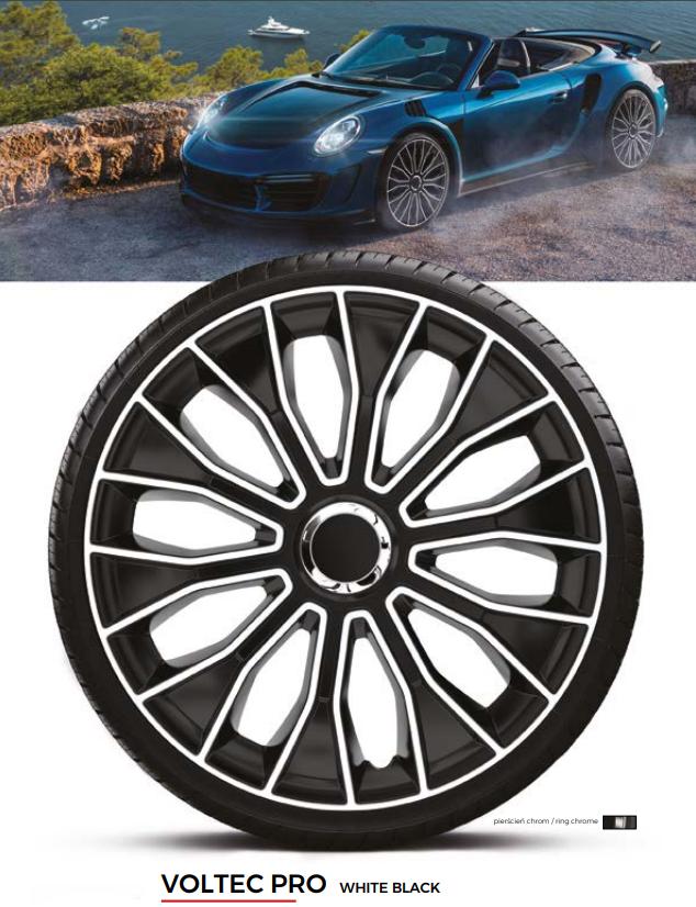 Колпаки колесные Voltec Pro White Black R14