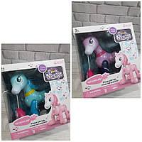 Интерактивная игрушка лошадка 1031-32-33A фиолетовая и бирюзовая