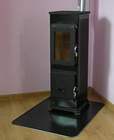 Отопительно-варочная печь на дровах Thorma BOZEN  Черная (каминофен, буржуйка), фото 1