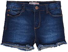 Детские синие джинсовые шорты для девочек 74-98 см