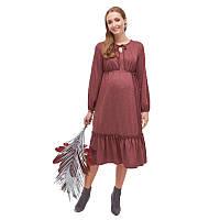 Платье для беременных и кормящих ЮЛА МАМА Monice (размер XS, бордовый), фото 1