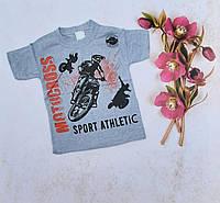 Детская трикотажная футболка MOTOCROSS для мальчиков 4-8 лет,цвет уточняйте при заказе, фото 1