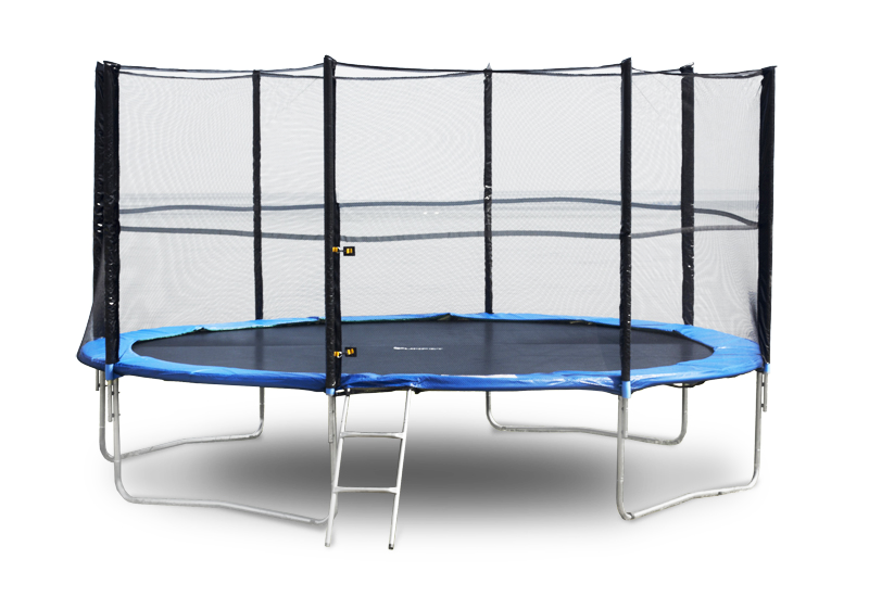 Батут FunFit 252 см з захисною сіткою + сходи (Спортивний батут)