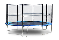Батут FunFit 252 см з захисною сіткою + сходи (Спортивний батут), фото 1
