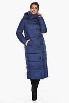 Куртка жіноча зимова колір синій оксамит модель 41830 42 (XXS), фото 2