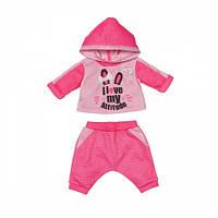 Набор одежды для куклы BABY BORN - СПОРТИВНЫЙ КОСТЮМ ДЛЯ БЕГА (на 43 cm, розовый) 830109-1