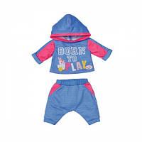 Набор одежды для куклы BABY BORN - СПОРТИВНЫЙ КОСТЮМ ДЛЯ БЕГА (на 43 cm, голубой) 830109-2