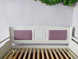 """Полуторний диван ліжко з масиву дерева з м'якою спинкою """"Орфей Преміум - 2"""", фото 2"""