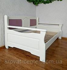 """Полуторний диван ліжко з масиву дерева з м'якою спинкою """"Орфей Преміум - 2"""", фото 3"""