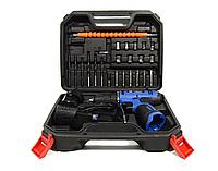 Шуруповерт аккумуляторный Bosch Professional GSR 120 и набор инструментов в кейсе Шуруповерт Бош