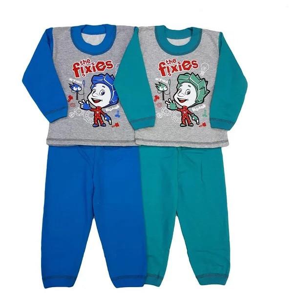 """Детская пижама """"Фиксики"""" с начесом, 80-86см"""