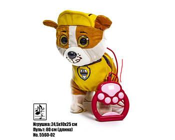Интерактивная игрушка собачка Щенячий Патруль Крепыш на поводке 5560-02