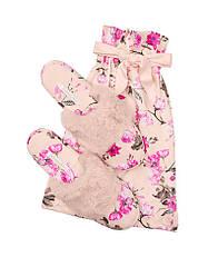 Атласные тапочки в мешочке розовые с цветами Victoria's Secret p.L (39-40)