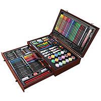 Набор для рисования в деревянном чемодане LEWEIHUAN №1187, фото 1