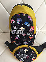 Яркий набор для девочек  рюкзак и поясная сумка  Amoung US