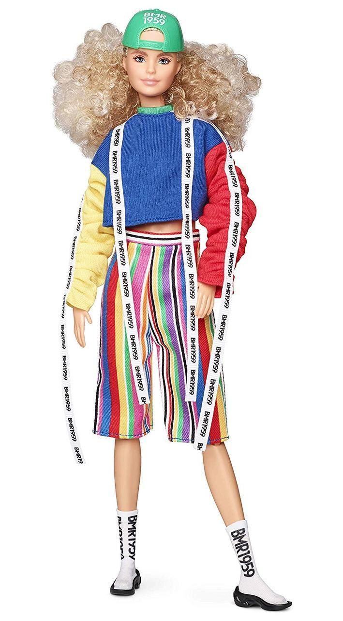 Коллекционная кукла Барби BMR 1959 кучерявая блондинка