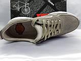 Комфортні літні кросівки сірі з нубука Detta, фото 5