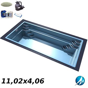 Комплект оборудования для стекловолоконного бассейна 11,02х4,06 м