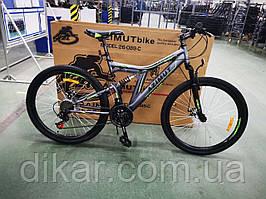 Велосипед AZIMUT Blackmount 26 D серо-зеленый