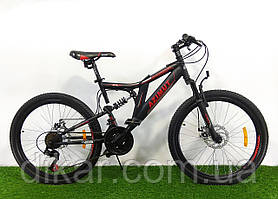 Велосипед AZIMUT Blackmount 26 D черно-красный