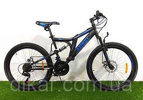 Велосипед AZIMUT Blackmount 26 D черно-синий