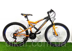 """Горный двухподвесный велосипед Azimut Scorpion 26"""" GD Черно-желтый"""