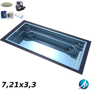 Комплект обладнання для скловолоконного басейну 7,21х3,3 м