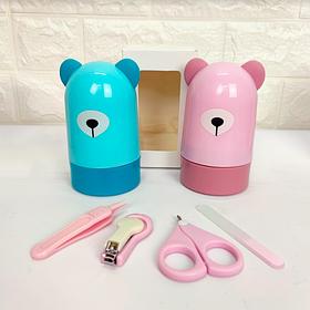 Дитячий манікюрний набір у футлярі - іграшці Ведмедик рожевий