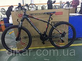 """Гірський велосипед Crosser Raly 26"""" (рама 17) чорно-червоний"""