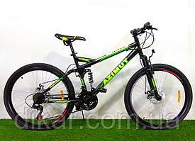 Двухподвесный велосипед Azimut Race 26 D+ черно-желтый