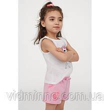Трикотажные шорты Единорог H&M на девочку р.98/104