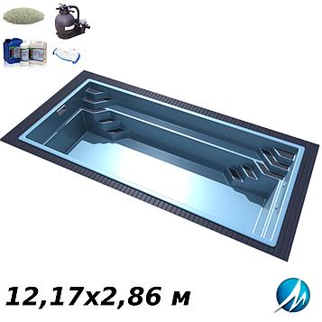 Комплект оборудования для стекловолоконного бассейна 12,17х2,86 м