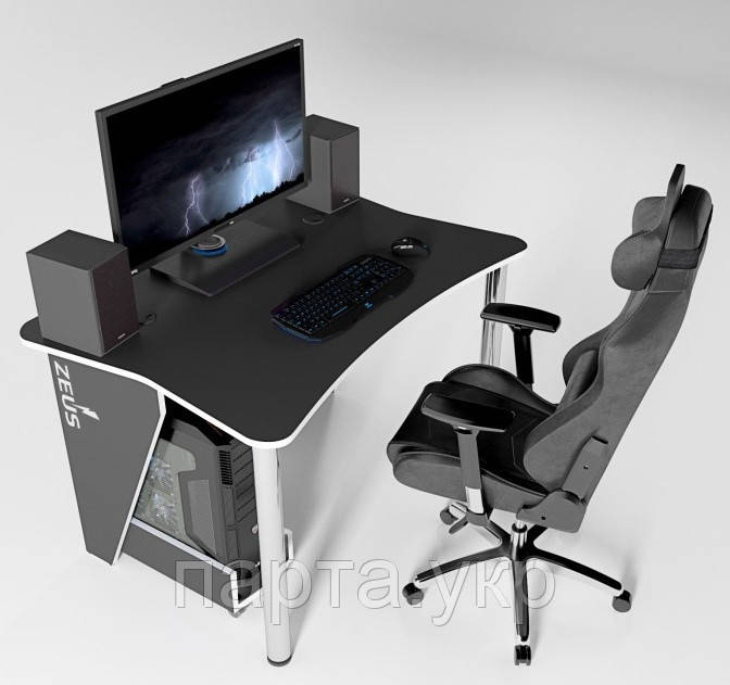 Игровой, Компьютерный, Письменный, Офисный стол ZET-3, 140 см