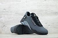 Мужские весенние кроссовки текстильные/сетка черный Jordan