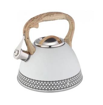 Чайник з нержавіючої сталі зі свистком Edenberg 3.0 л Білий (EB-8809W)
