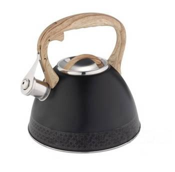 Чайник з нержавіючої сталі зі свистком Edenberg 3.0 л Чорний (EB-8809B)