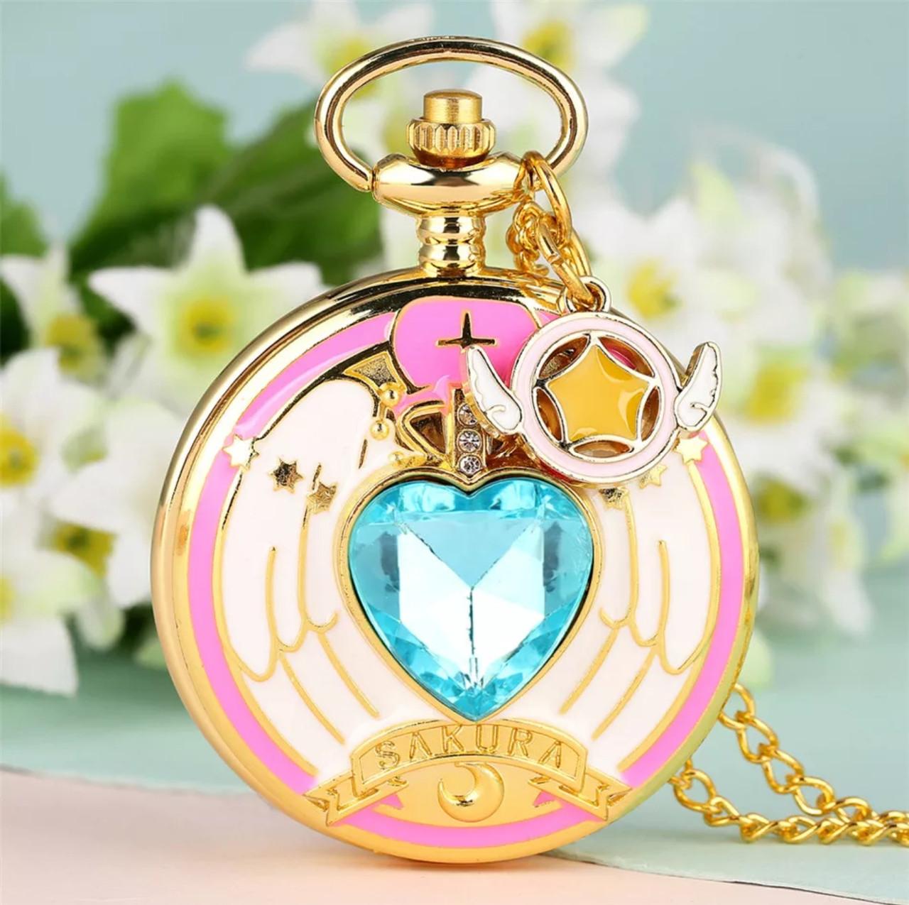 Кишеньковий годинник на ланцюжку Сакура відмінний подарунок