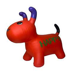 Надувная игрушка-прыгун Собака Bambi для детей от 1 года, 25х40х20 см, красный