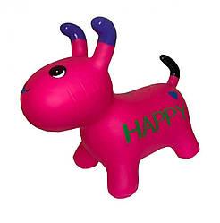 Детская надувная игрушка-прыгун Bambi Собака с длинными ушками 25х40х20 см, розовый