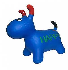 Детская надувная игрушка-прыгун для прыжков Bambi Собака 25х40х20 см, синий