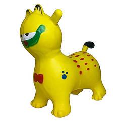 Детская надувная игрушка-прыгун Bambi Кот качественная резина 25х40х20 см, желтый