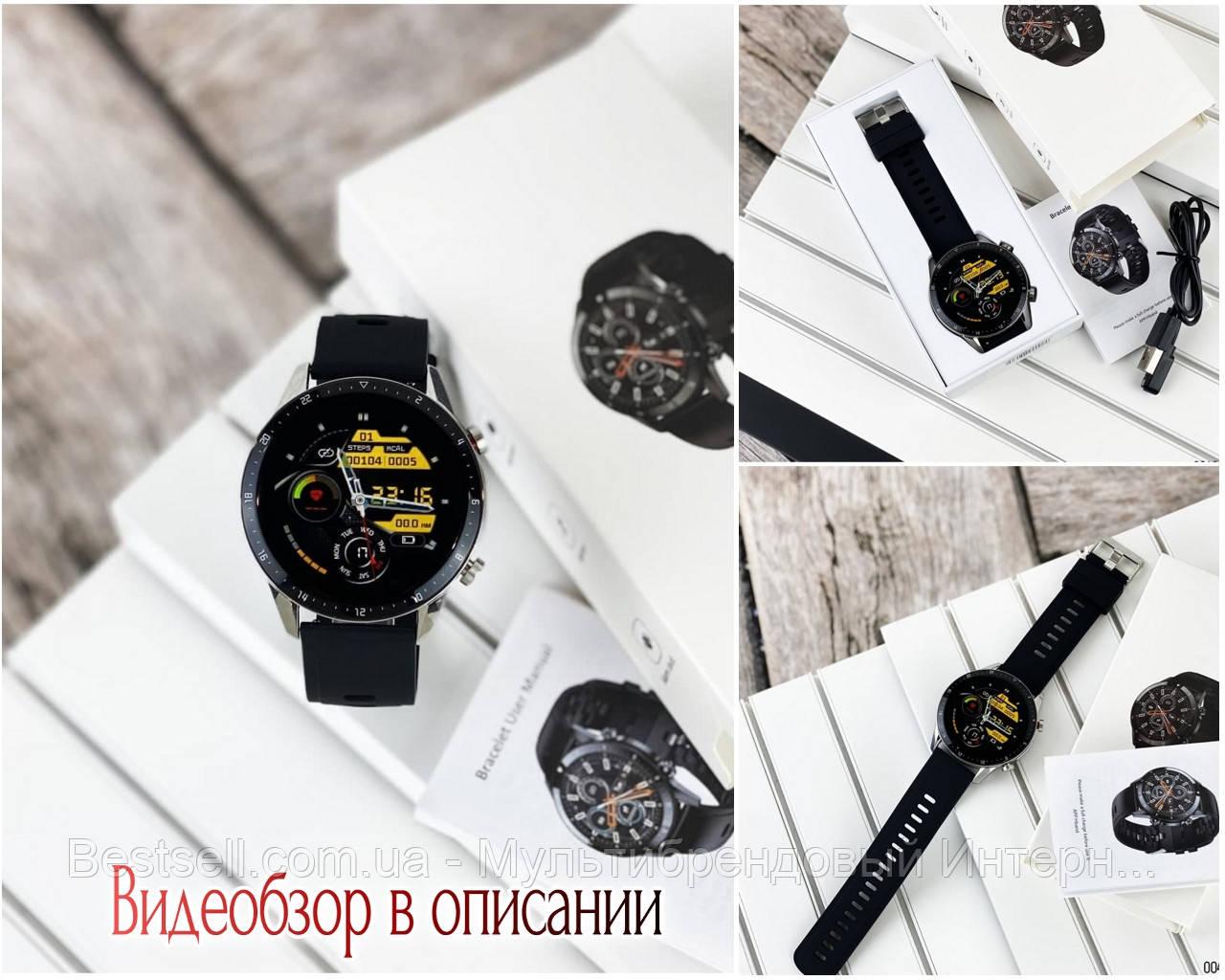 Смарт часы наручные  Modfit Z08S Black-Silver / смарт часы модфит