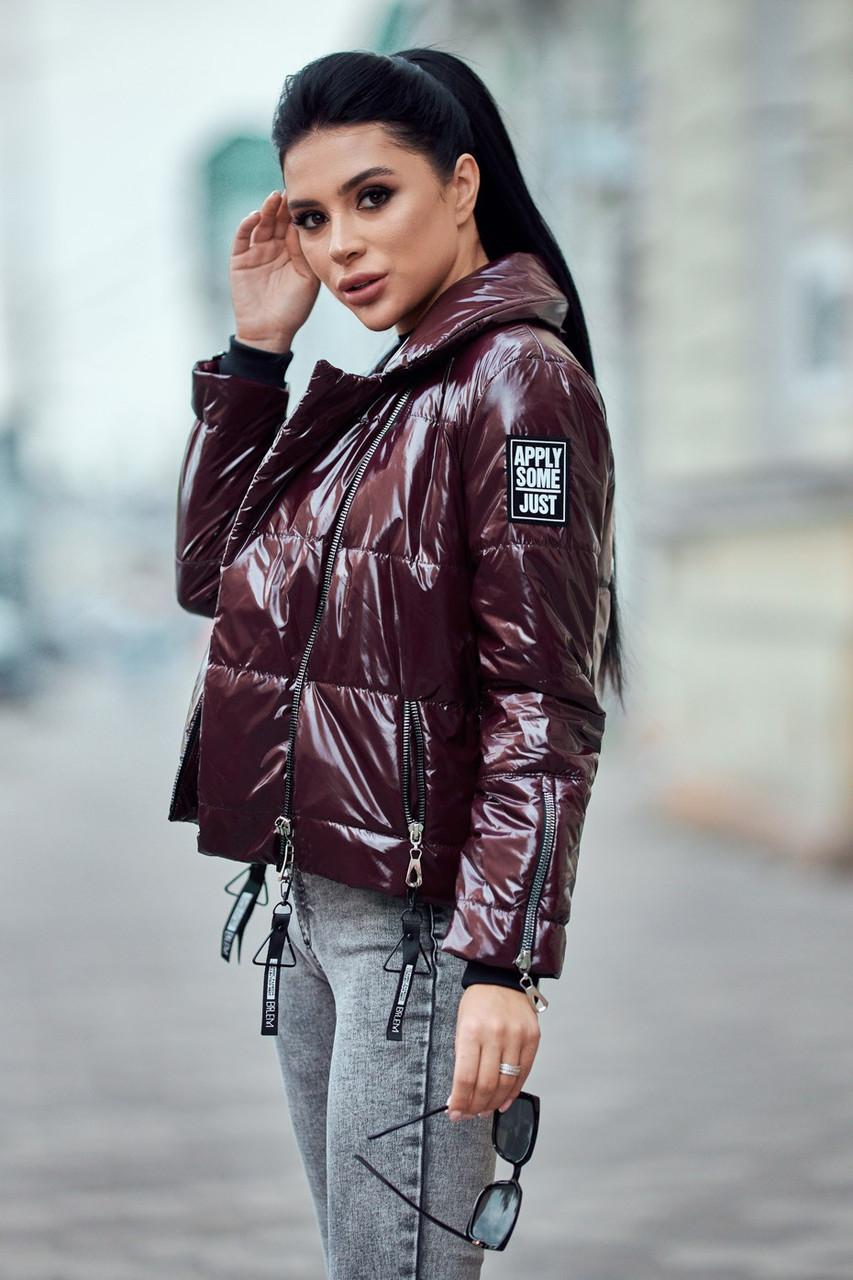 Модная короткая куртка косуха 42, 44, 46,48 размер