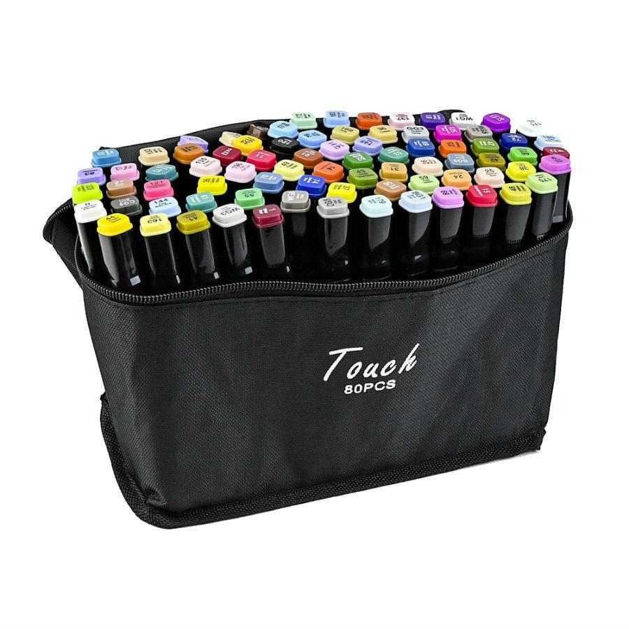 Набор скетч-маркеров 80 шт. для рисования двусторонних Touch (TOUCH80-BL)
