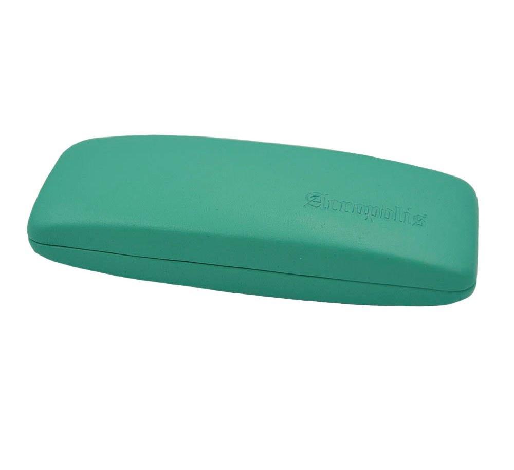 Футляр-ракушка для очков жесткой конструкции с подкладкой под бархат из натуральной кожи
