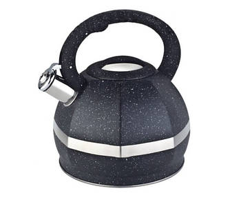 Чайник з нержавіючої сталі зі свистком Edenberg 3.0 л Чорний (EB-2475B)