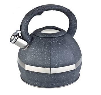 Чайник з нержавіючої сталі зі свистком Edenberg 3.0 л Сірий (EB-2475GR)